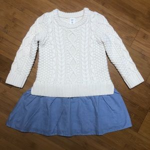 NWOT baby Gap Mix-Media Dress 2Y
